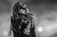 Rob Zombie live in concert 2017. Rob Zombie is an American musician, filmmaker and screenwriter. Zombie rose to fame as a founding member of the heavy metal band Royalty Free Stock Image