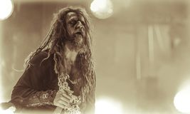 Rob Zombie live concert 2017 heavy metal. Rob Zombie  is an American musician, filmmaker and screenwriter. Zombie rose to fame as a founding member of the heavy Stock Image