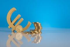 Roba di affari con le monete Fotografia Stock Libera da Diritti
