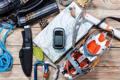 Roba di alpinismo e di escursione Fotografie Stock Libere da Diritti