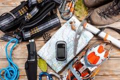 Roba di alpinismo e di escursione Fotografia Stock Libera da Diritti