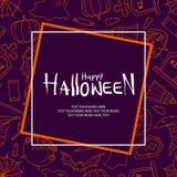 Roba di Halloween casuale su fondo porpora Immagini Stock Libere da Diritti