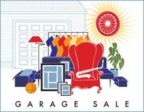 Roba di rifiuto di vendita di garage Immagini Stock Libere da Diritti