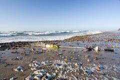 Roba di rifiuto sulla spiaggia immagini stock libere da diritti