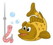 robak ryb ilustracji