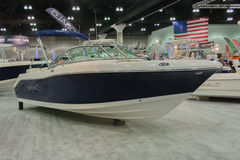 Robalo boat on display Stock Photo