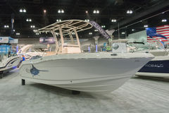 Robalo boat on display Stock Photography