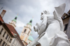 Robba's Fountain, Ljubljana, Slovenia Royalty Free Stock Images