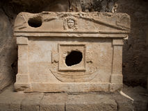 Robbed lycian sarcophagus. In Olympos archeological site, Turkey Royalty Free Stock Photography
