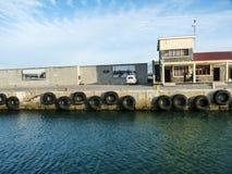 Robben Island. Pier leading to the Robben Island prison royalty free stock photos