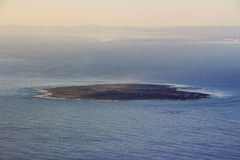 Robben Island View from Table Mountain Royalty Free Stock Photo