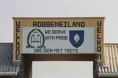 Robben Island Welcome Sign 2 Stock Photography