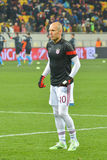 Robben before the match FC Shakhtar-FC Bayern. UEFA Champions League Stock Photo