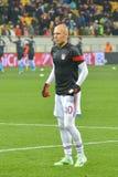 Robben przed dopasowaniem FC Shakhtar-FC Bayern UEFA Wstawia się Liga Zdjęcie Stock