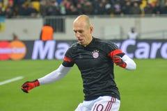 Robben przed dopasowaniem FC Shakhtar-FC Bayern UEFA Wstawia się Liga Zdjęcie Royalty Free
