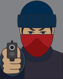 Robber With Gun Royalty Free Stock Photo
