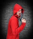 Robber with gun Stock Images