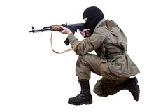 Robber with kalashnikov Stock Image
