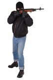 Robber with M14 rifle Stock Photo