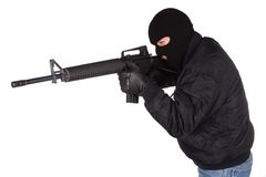 Robber with M16 rifle Royalty Free Stock Images