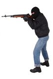 Robber with M14 rifle Stock Photos