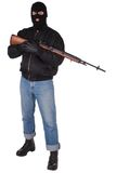 Robber with M14 rifle Royalty Free Stock Image