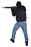 Robber with M16 rifle Royalty Free Stock Photos