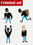 Robber in mask set Royalty Free Stock Images