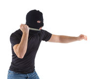 Robber with masked Royalty Free Stock Photography