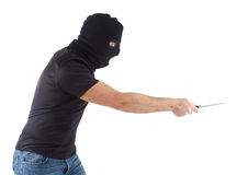 Robber with masked Royalty Free Stock Image