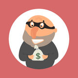 Robber with  money Royalty Free Stock Photos