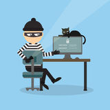 Robber at the office. Stock Image
