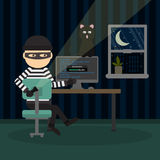 Robber at the office. Royalty Free Stock Photography