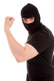 Robber presenting his power Stock Photography