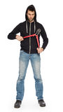 Robber with red bolt cutters Royalty Free Stock Photos