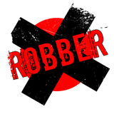 Robber rubber stamp. Grunge design with dust scratches. Effects can be easily removed for a clean, crisp look. Color is easily changed Stock Photos
