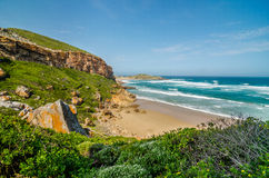 Robberg Nature Reserve beach, Garden route, South Africa. Royalty Free Stock Photography