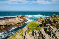 Robberg nature reserve, Garden route, South Africa landscape. Robberg Nature Reserve, coast rocks and indian ocean. Garden route between Knysna and Plettenberg stock photo