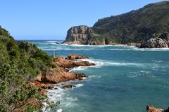 Robberg Peninsula Nature Reserve, South Africa. Robberg, situated 8km south of Plettenberg Bay on the Garden Route, is not only a nature reserve, but also a stock image