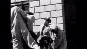 Robbers pulling off Brinks heist, 1950s stock video footage