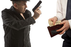 Robbery by businessman isolated Royalty Free Stock Photo