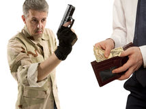 Robbery by businessman isolated Stock Image