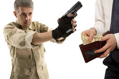 Robbery by businessman isolated Stock Photo