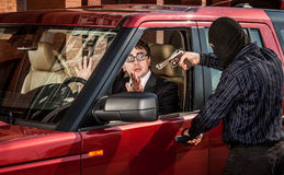 Robbery of the businessman Royalty Free Stock Photo