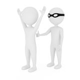 Robbery. 3d people robbery. on white background Royalty Free Stock Image
