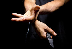 Robbery with a Knife Stock Photo