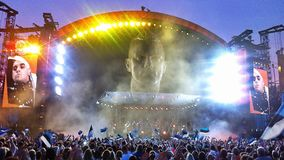 Robbie Williams-Stadium in Tallinn, Estland Lizenzfreie Stockbilder