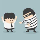 Robbing a businessman. Vector robbing a businessman eps.10 Royalty Free Stock Photo