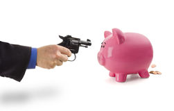 Robbing the Piggy Bank Royalty Free Stock Photography