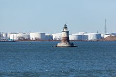 Robbins Reef Lighthouse Stock Photo